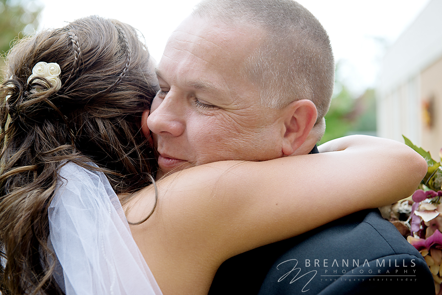 Johnson City Wedding Photographer, Breanna Mills Photography captures a bride and her father on her wedding day.