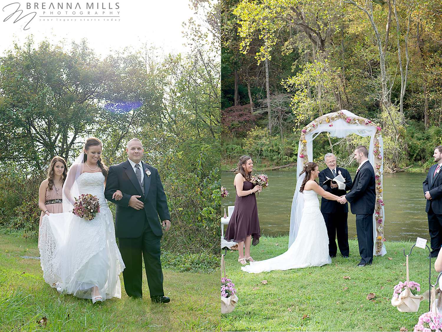 Johnson City wedding photographer, Breanna Mills Photography captures wedding ceremony on wedding day.