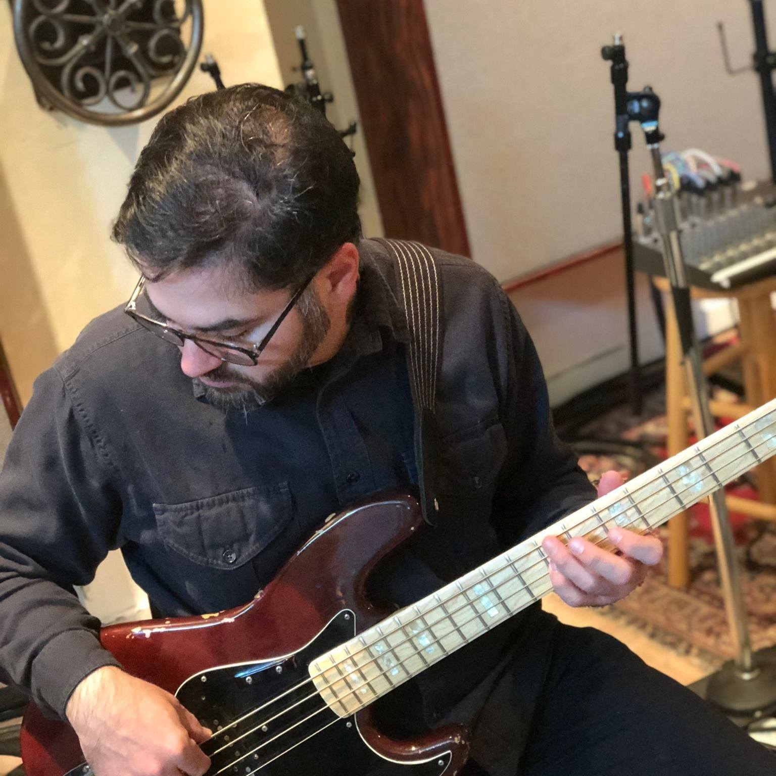 Studio session - March 2019  Photo: Nina Perceful