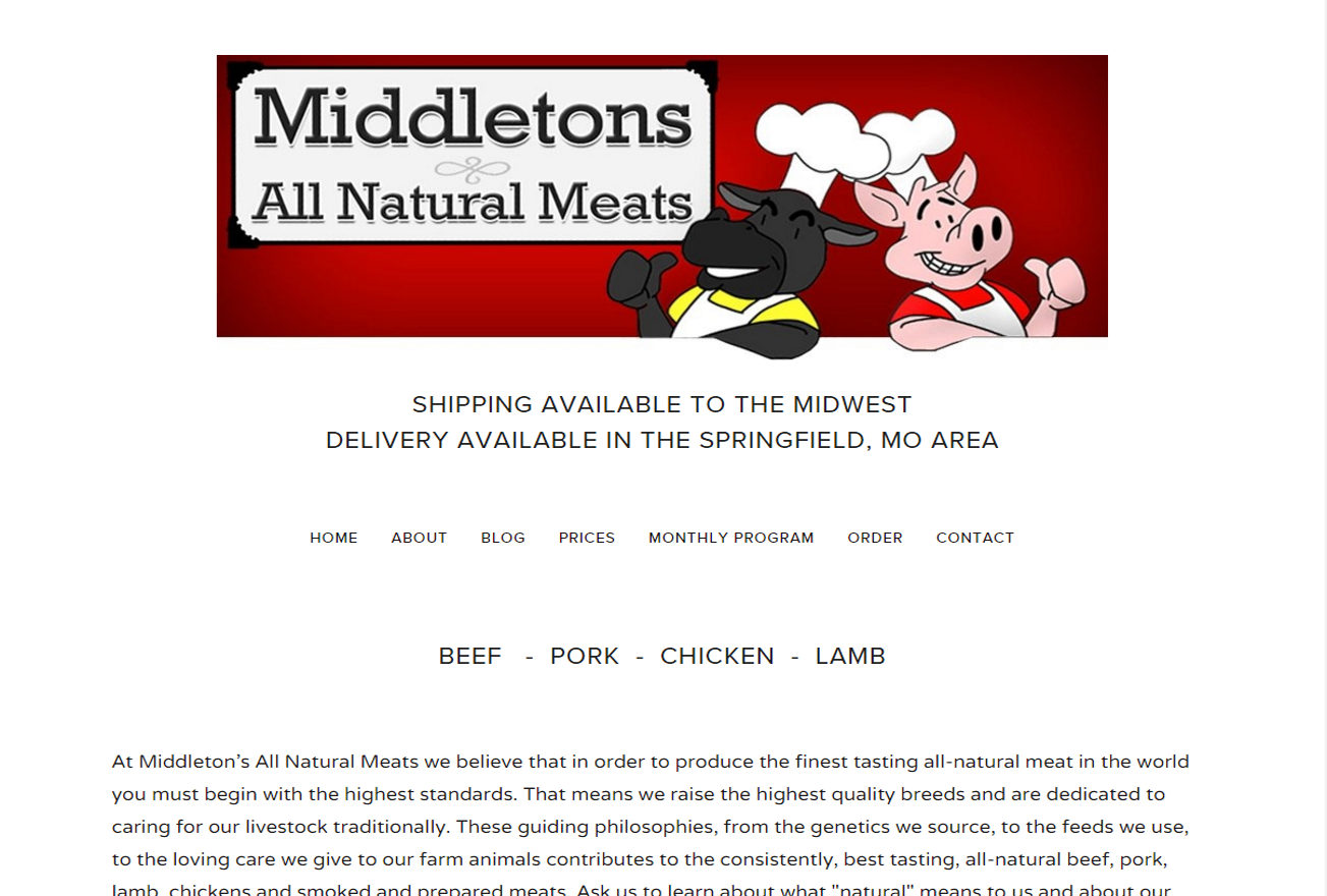 MIDDLETON'S ALL NATURAL MEATS