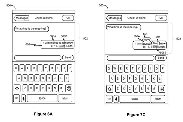 Words that were automatically corrected will be highlighted for the sender and recipient -  US PATENT OFFICE