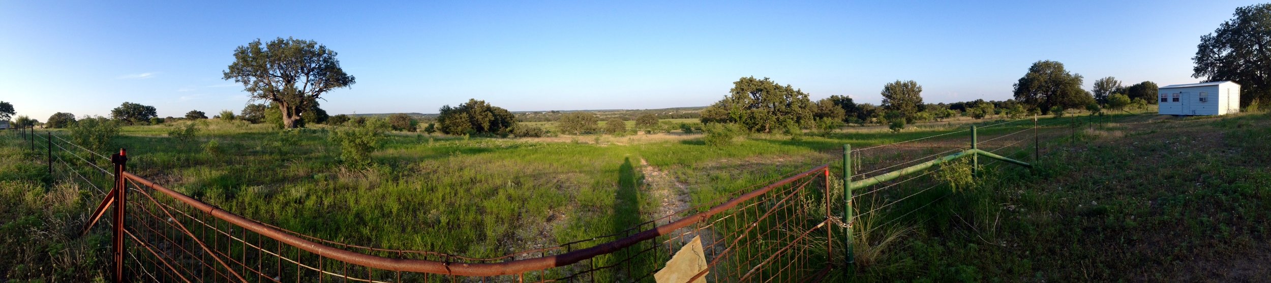 View from the top of the hill overlooking the eastern portion of the ranch