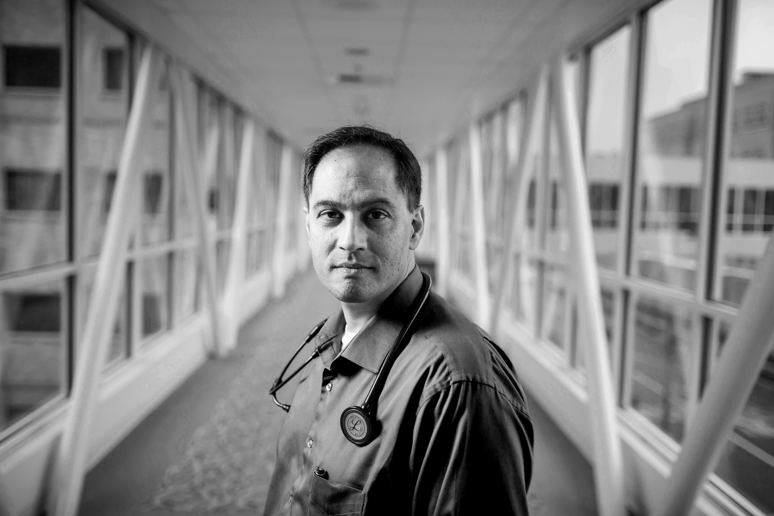 SPRINGFIELD, OR – JANUARY 6th, 2016: Dr. Rajeev Alexander, one of the first  hospitalist in Oregon, poses for a portrait at PeaceHealth Sacred Heart Medical Center at RiverBend in Springfield, OR where he has worked since 1998. Alexander is part of the union that was formed in reaction to the hospital's announcement that it wanted to outsource the facility's 36 hospitalists. As a result the administration junked their plan. CREDIT: Leah Nash for The New York Times