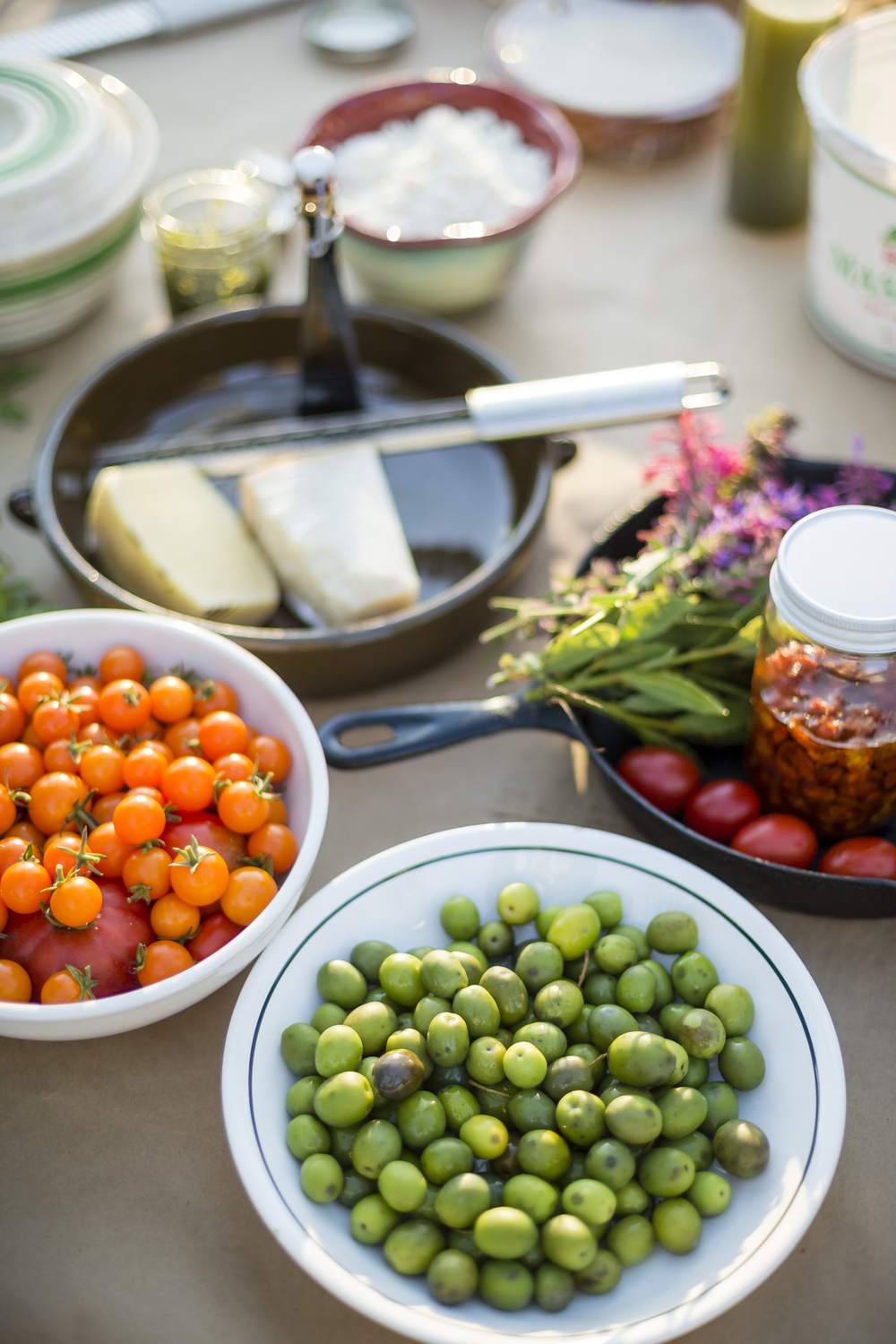 On November 7th, 2015 in Healdsburg, CA olives from the DaVero Farms & Winery groves are on the menu at a party held for their friends and employees at their tasting room property. DaVero is a biodynamic family farm which produces small lots of Italian wine and olive oil in the Dry Creek Valley of Sonoma County and is owned by Colleen McGlynn and her husband and QuickBooks creator Ridgely Evers. Sonoma has become America's test kitchen, 1768-square miles chocked full of wineries, dairies, micro-distilleries, bakeries, restaurants, gardens, and orchards.