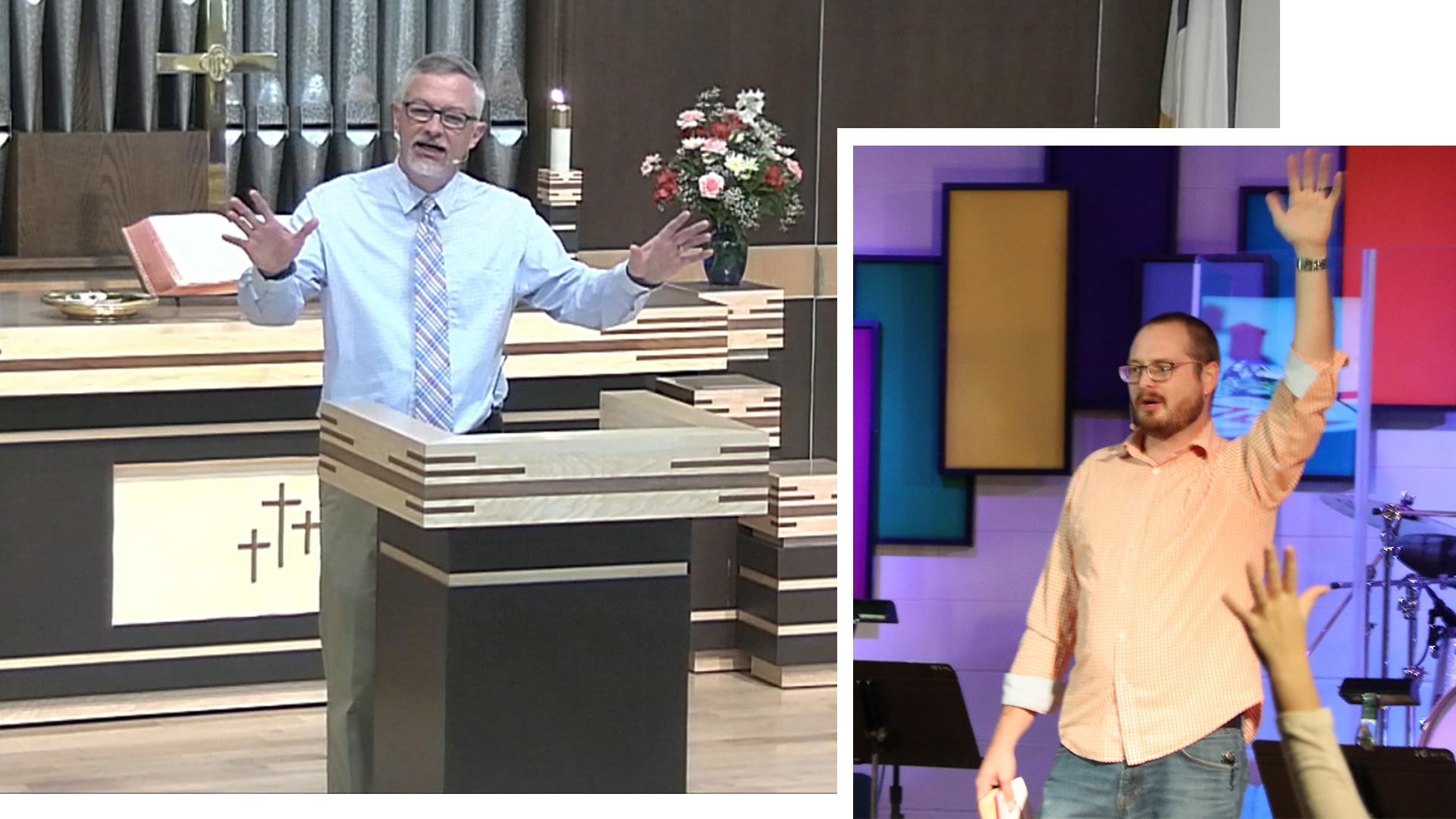 2 pastors preachin first methodist cedar falls iowa