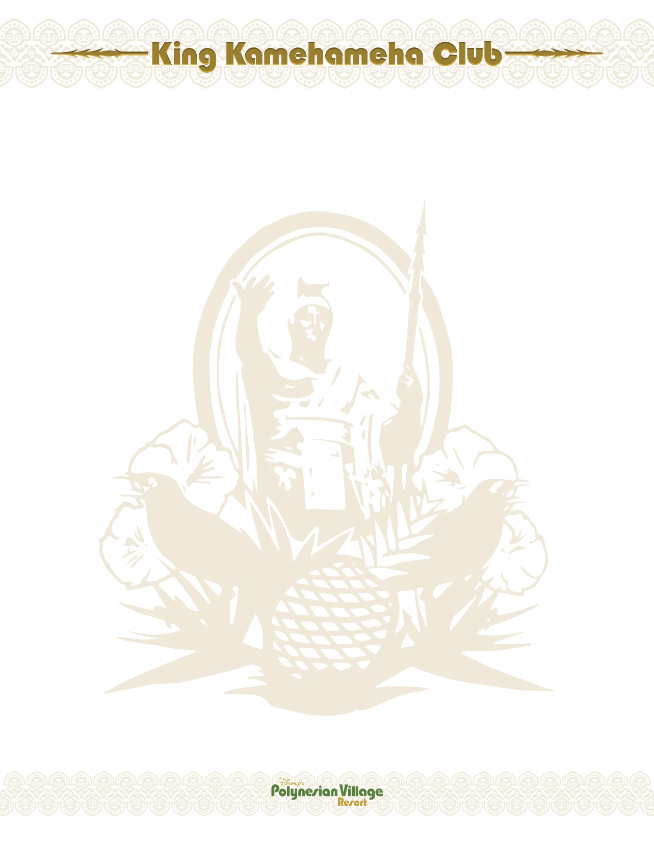 King Kamehameha Club (Back)