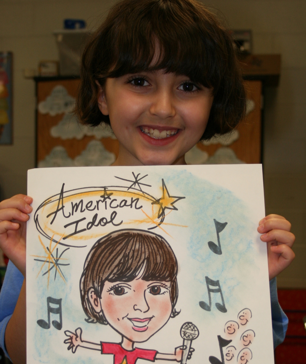 """4th Grade """"Cartooning"""" with Mike Valentine"""