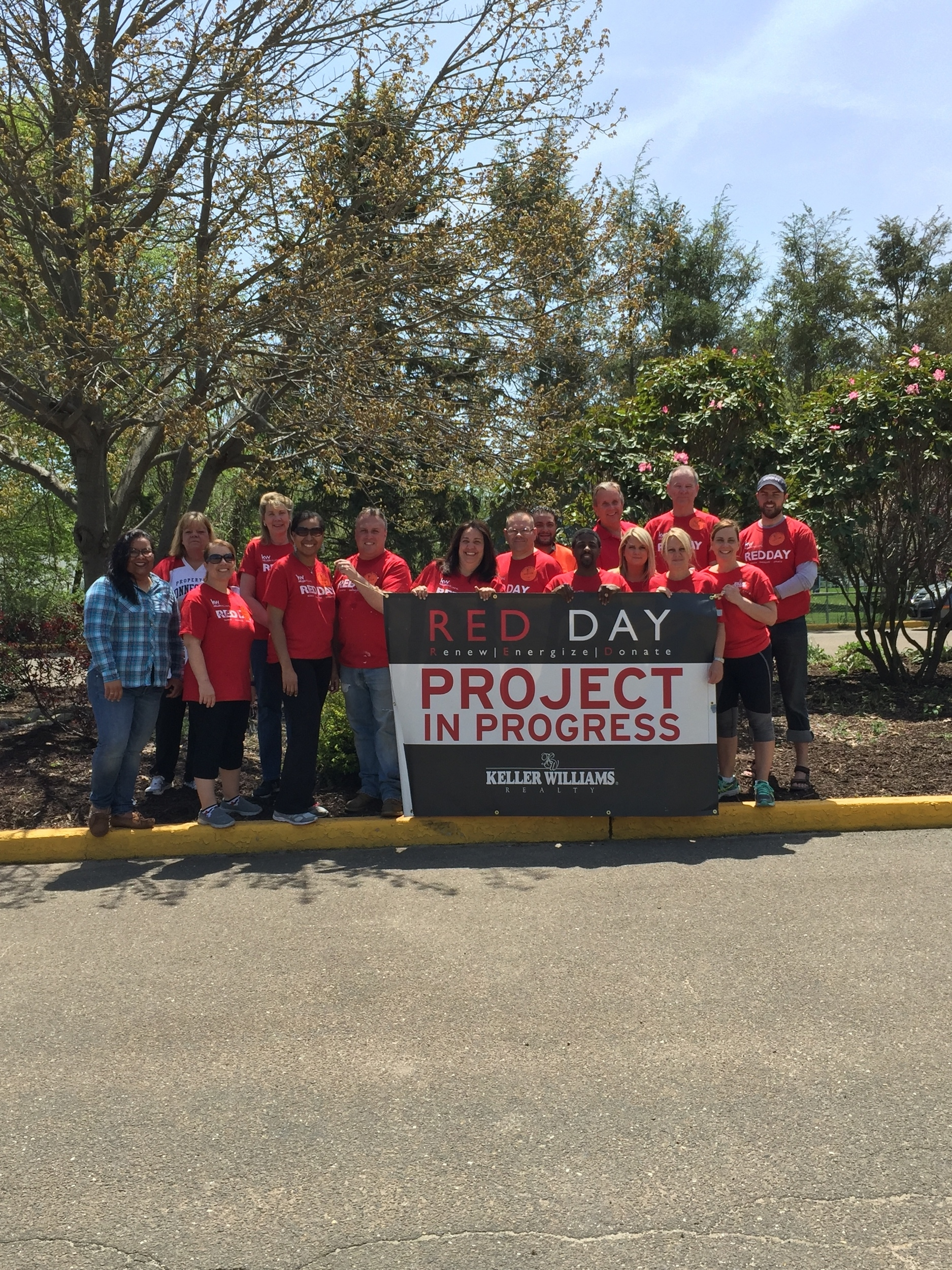 "Associates from the Trumbull office of Keller Williams Realty spent the day at Daniels Farm School last Thursday as part of their annual ""RED Day,"" helping to clean up and beautify the grounds.   RED Day    (Renew, Energize and Donate) is an initiative dedicated to celebrating Keller Williams Realty's year-round commitment to improving local communities. Each year, on the second Thursday in May, tens of thousands of associates from across the United States and Canada participate in a wide range of projects, devoting time to renewing and energizing aspects of the neighborhoods in which they serve.  Thank you, Keller Williams Realty!"
