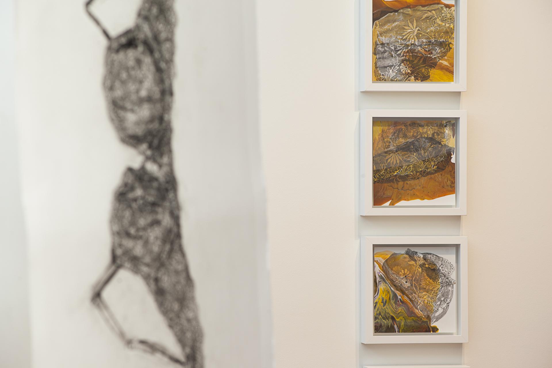 Left: Irene Carvajal, Right: Rea Lynn de Guzman, Fabric Fragments  Detail, 2016