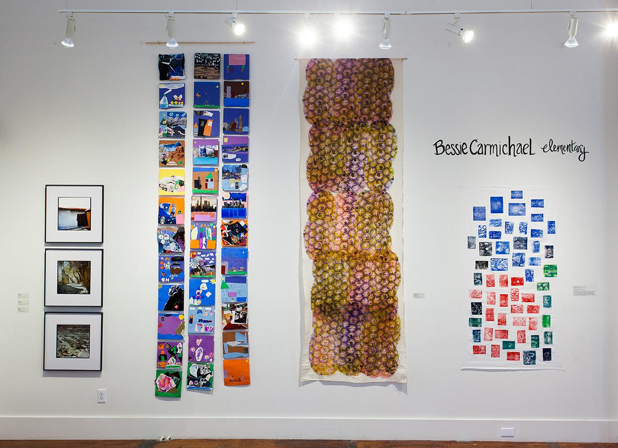 Left to right: Eda Li, Artwork by K-1st Grade Students, Rea Lynn de Guzman,Artwork by K-1st Grade Students