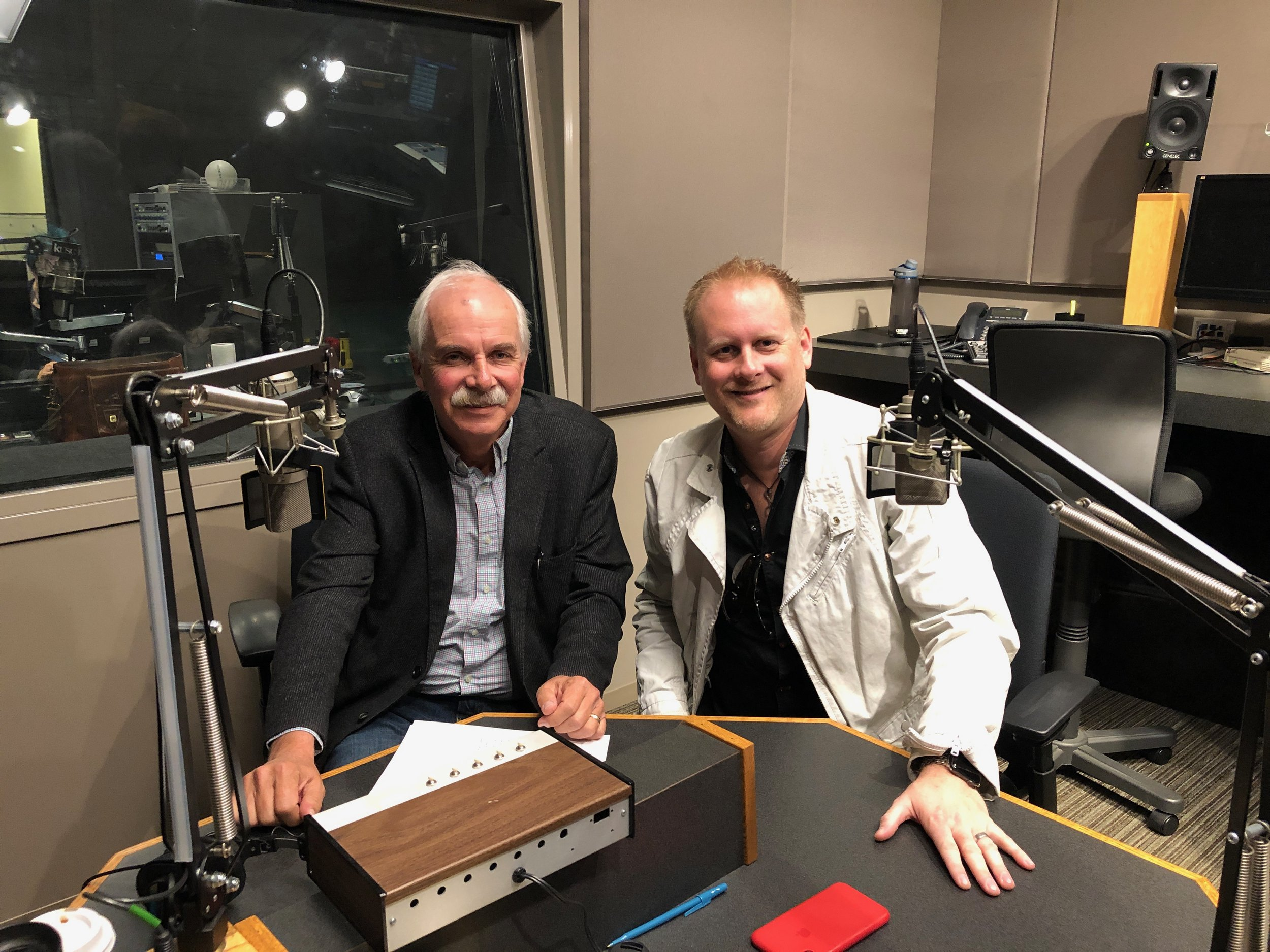 Composer Brian Ralston with KUSC Chief Content Director and Classical Morning show host John Van Driel.