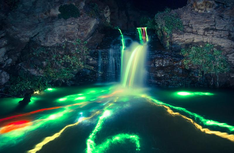 Long-Exposure-Neon-Waterfalls