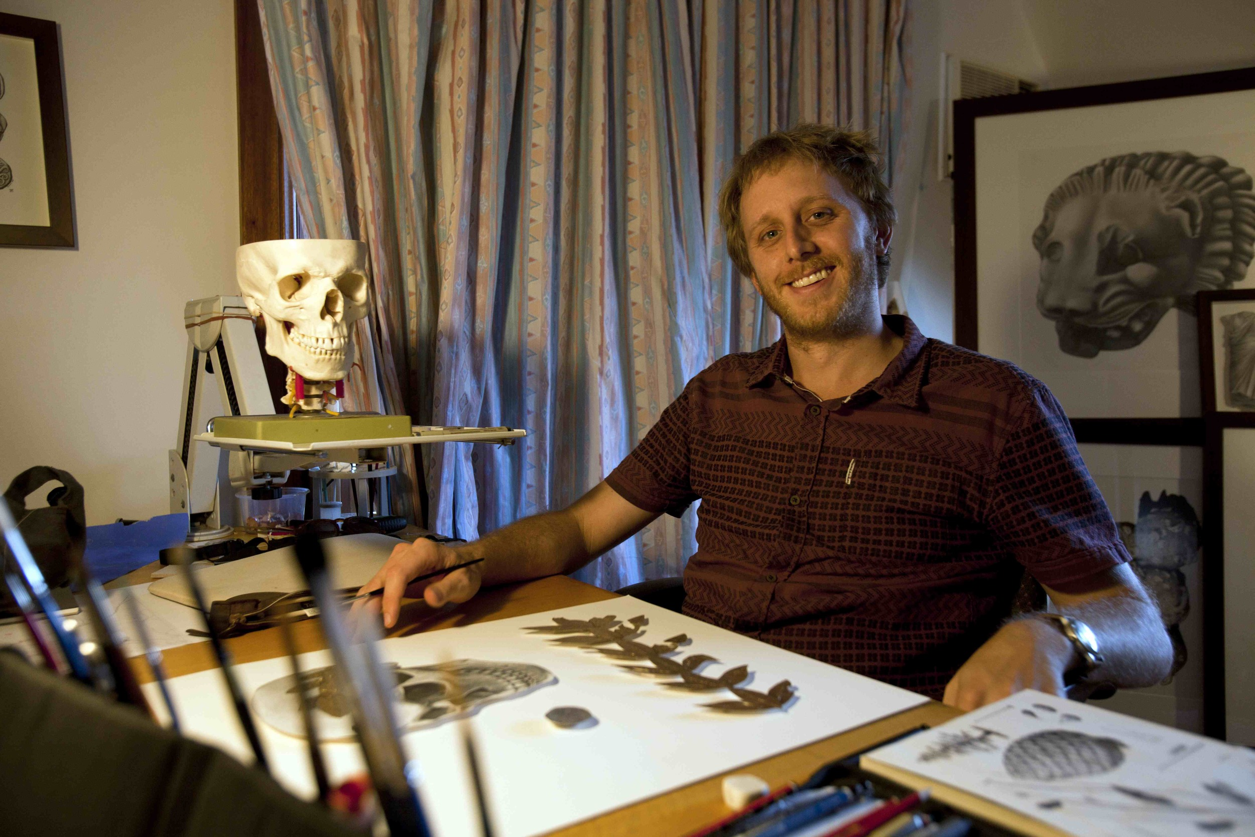 Angus at work in his studio