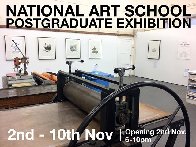 Join me this Thursday 2nd November from 6-10pm for the opening of The National Art School 2017 Postgraduate Exhibition. If you can't make the opening, the exhibition will continue to be open for public visit until 10th November (11am-5pm). More details on the NAS website. #nas #nationalartschool #postgrad #postgraduate #exhibition #artexhibition #sydney #sydneyart #art #fineart