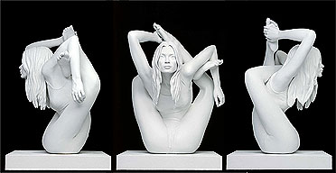 'Sphinx' 2006 by Marc Quinn. Photograph taken from The Guardian article 'Meet Kate Moss - contorted'