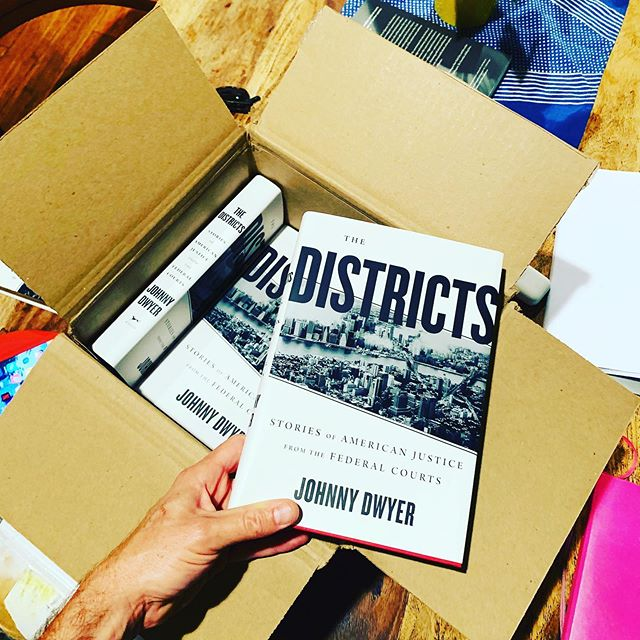 "Via @aaknopf: the first copies of ""The Districts"" in hardcover.  The book comes out on October 1—if you're interested in criminal justice, the mafia, ISIS, insider trading, narcotics trafficking and political corruption—and how these things take shape in New York's Southern District and Eastern District, please stop in at your local bookseller, order online or visit your local library.  #truecrime #doj #sdny #edny #criminaljustice  #law"