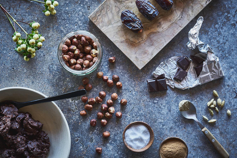 Schokoladen-Haselnuss-Crunch Pralinen