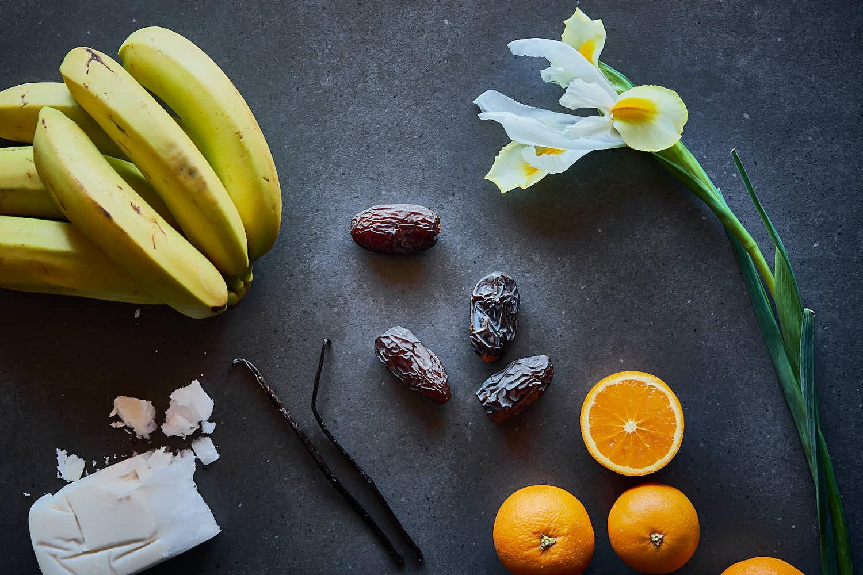 Orangen Smoothie mit Vanille & Kokos