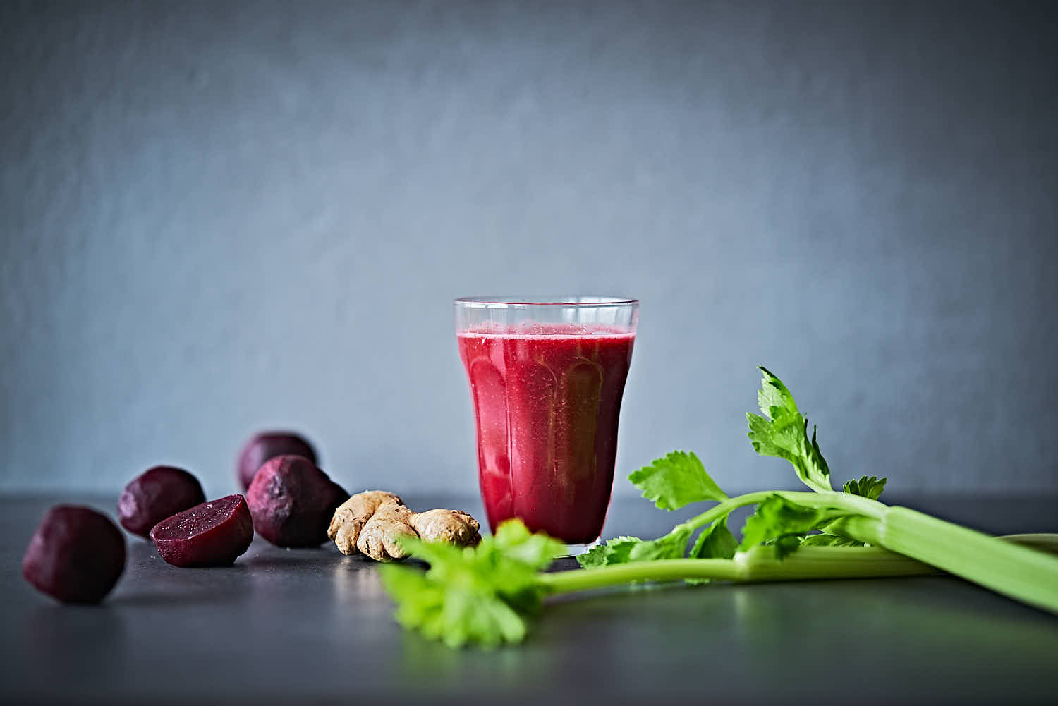 Rote Beete-Maracuja-Smoothie