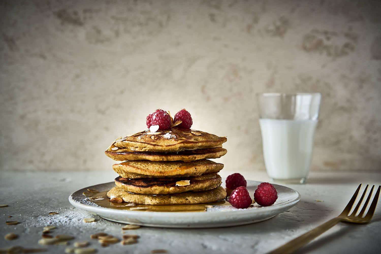 Dinkelmehl-Pancakes mit Heidelbeeren