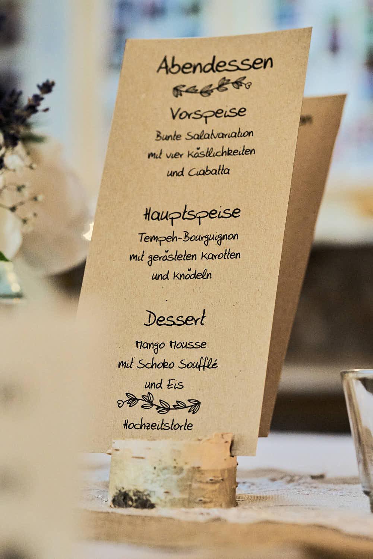 Veganes Hochzeitsmenü
