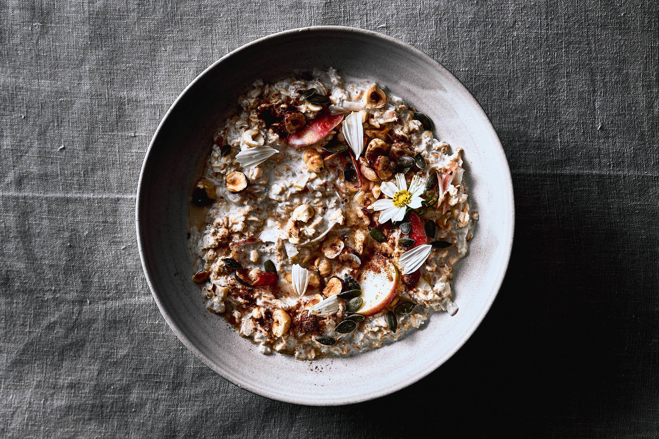 Porridge Apfel vegan