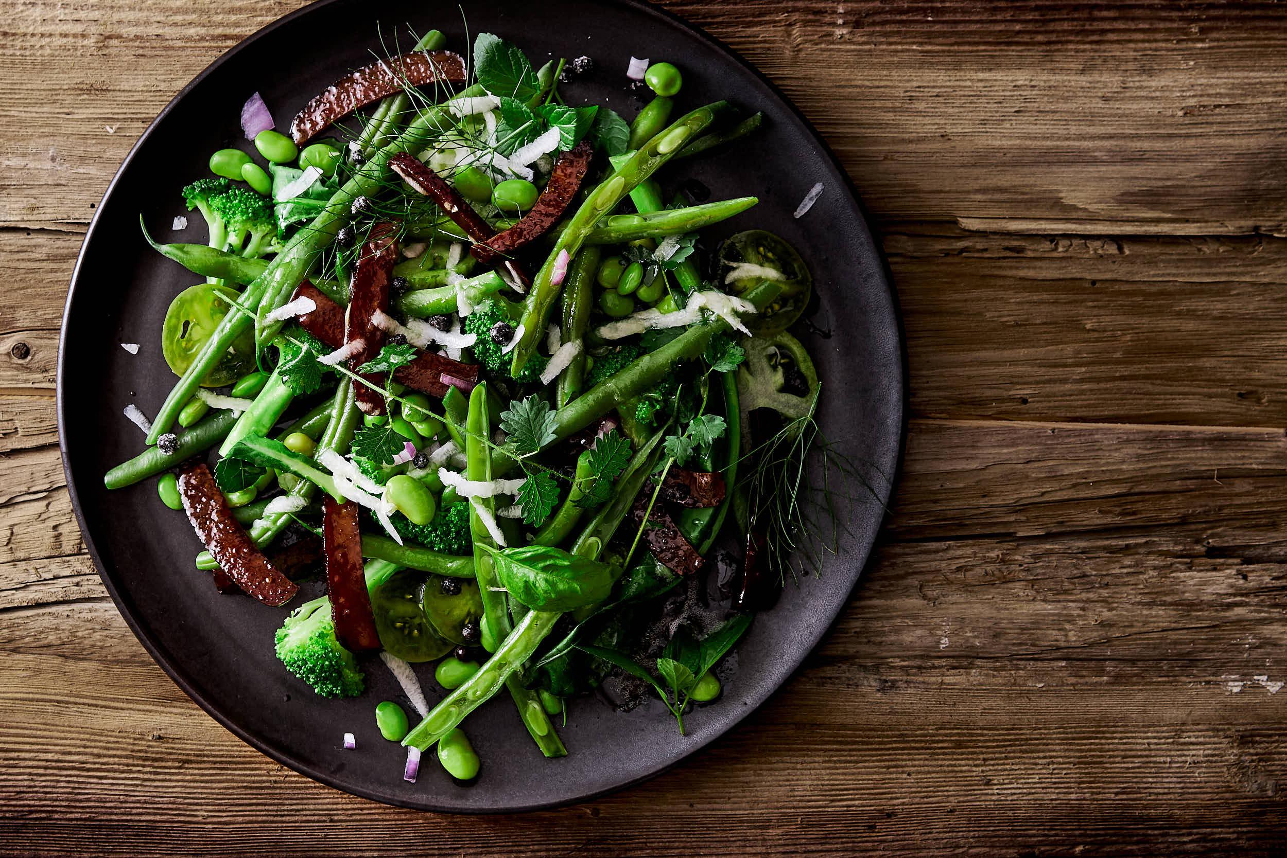 Bohnen-Brokkoli-Edamame-Salat