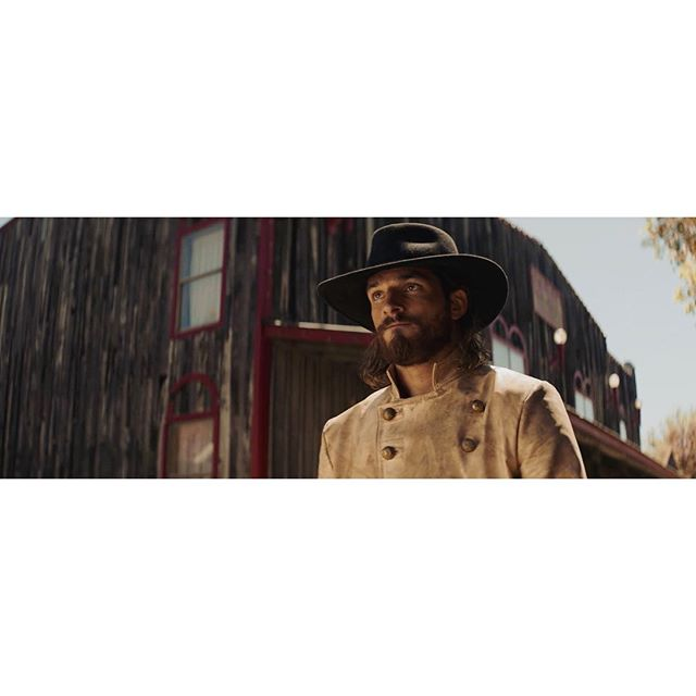 "🎥 ""Westworld to Yuma"" (2017) Dir: @ryan_connolly . . 📝 A wider angle from the previous post. We moved the camera to be a little bit more of a 3/4 shot and kept positioned @jrobproductions so he'd be backlit by the sun. Then we backed off the 6x6 unbleached muslin on the opposite side of his face and the 8x8 solid on the camera side to be just out of frame (see previous post for lighting diagram). . . . Writer/Director: @ryan_connolly Starring: @jrobproductions & @josh_connolly Producer: @tim_connolly DP: @dmrouth 1st AC: @ryan_polly 2nd AC/Movi Tech: @scotthilburndp Key Grip: @gloomygrant Production Sound: @khto_music HMU: Ondrea Connolly BTS Videographer: @joshuafortuna Colorist: @jcarrington3 Composer: @h2daniel Sound Design/Mix: @robkrekelsound VFX Supervisor: @mstarktv _____________________________ Alexa Mini + Kowa Anamorphics _____________________________ #filmmaking #dp #western #shortfilm #arri #alexamini #kowa #anamorphic #cinematography #behindthescenes #filmriot"