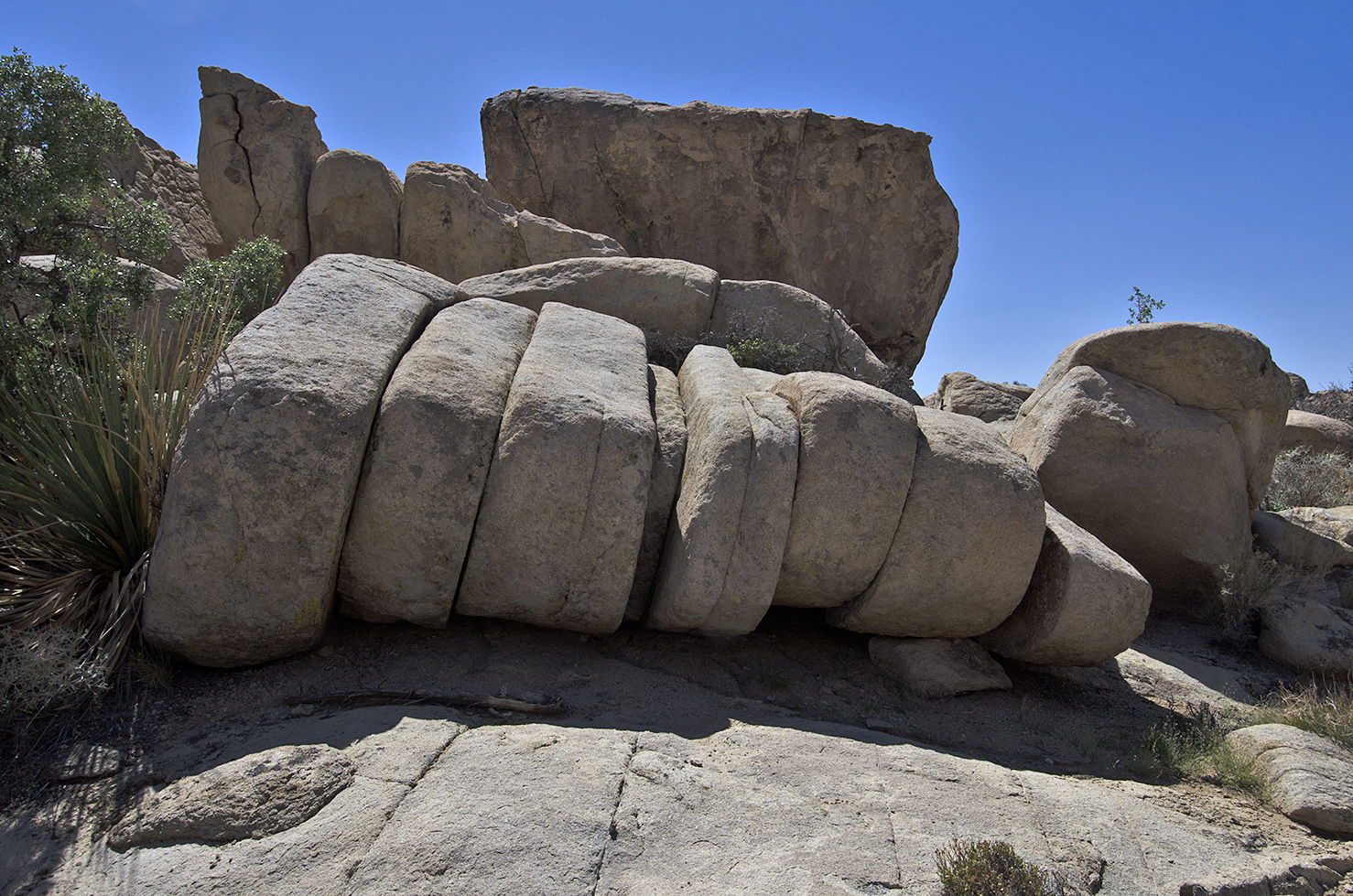 """Back down on the valley floor, it's time to head back to the car. I walk past what I refer to as """"sliced bread"""" rock."""