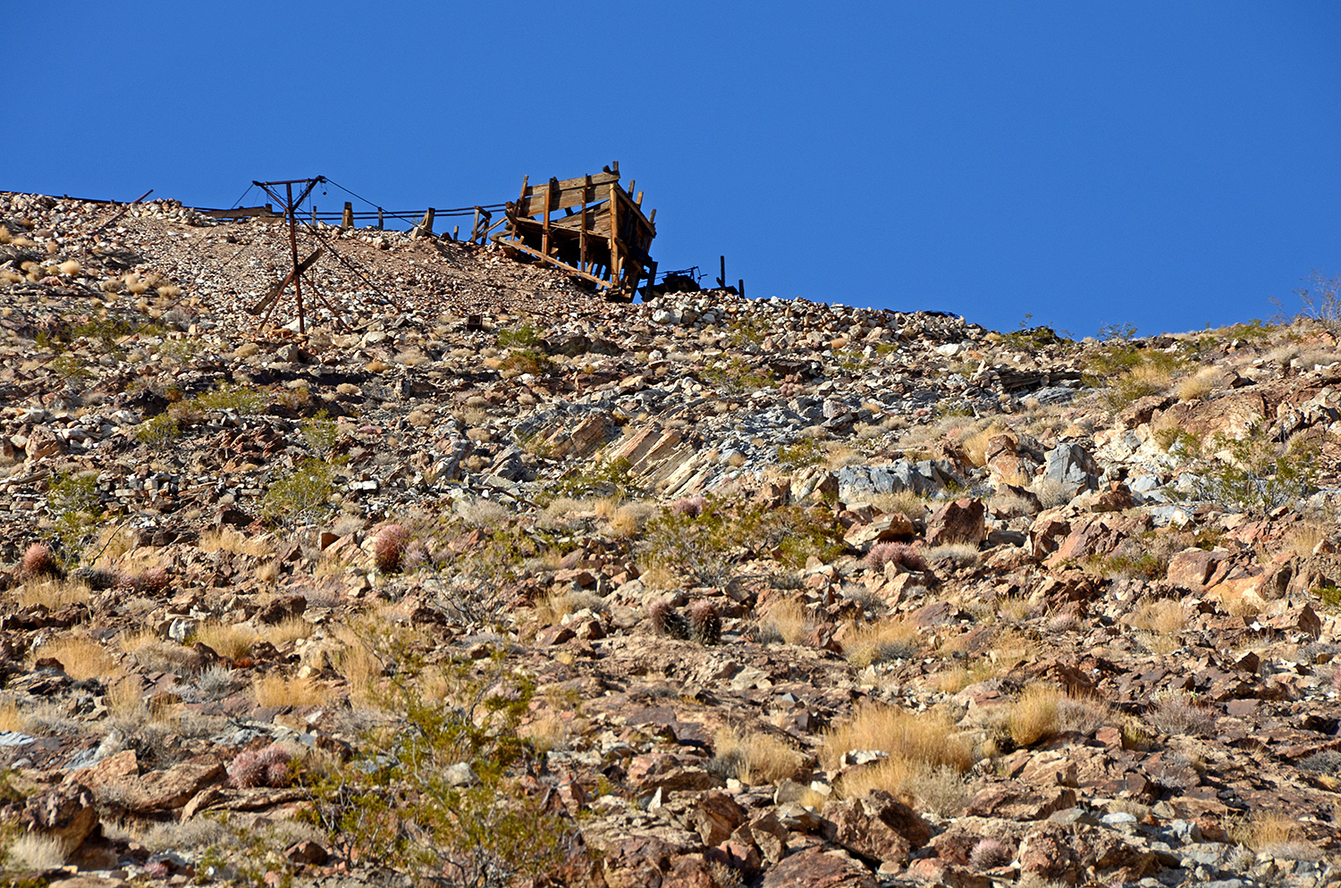 This structure was up on the hill on the other side of the canyon.