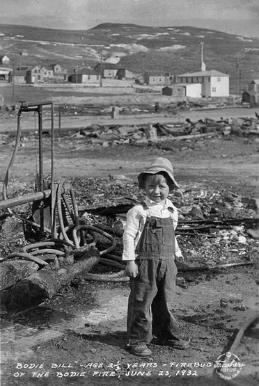 """""""Bodie Bill,"""" the 2-1/2 year old boy who supposedly started the devastating blaze of 1932."""