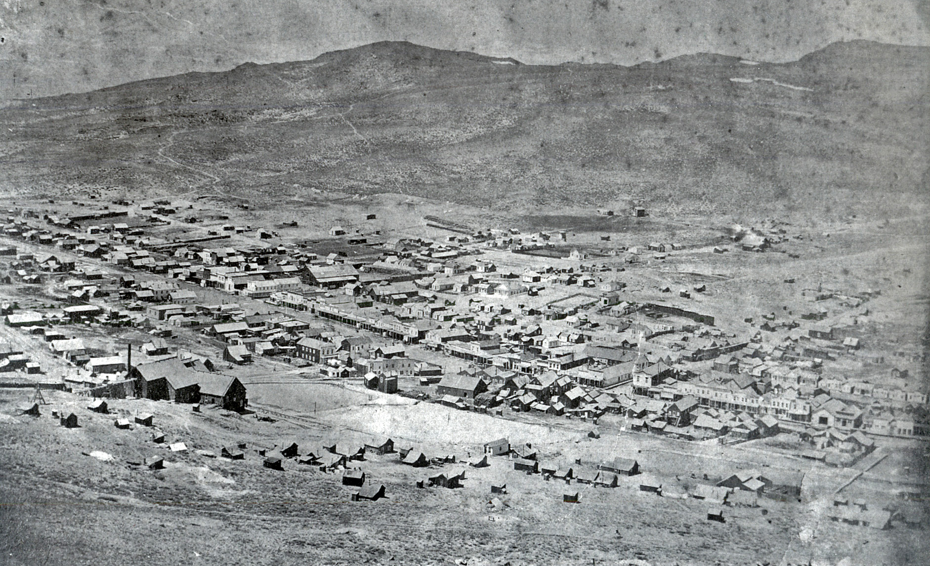 Bodie before the fires, circa 1880