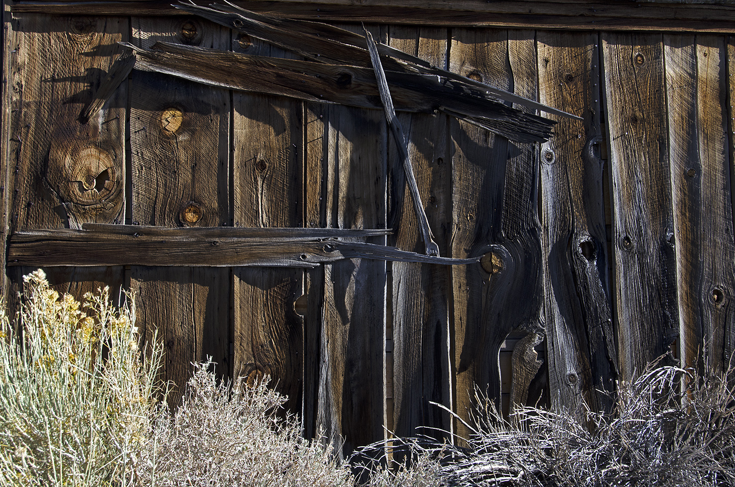 The people of Bodie used whatever they could to patch up their buildings.