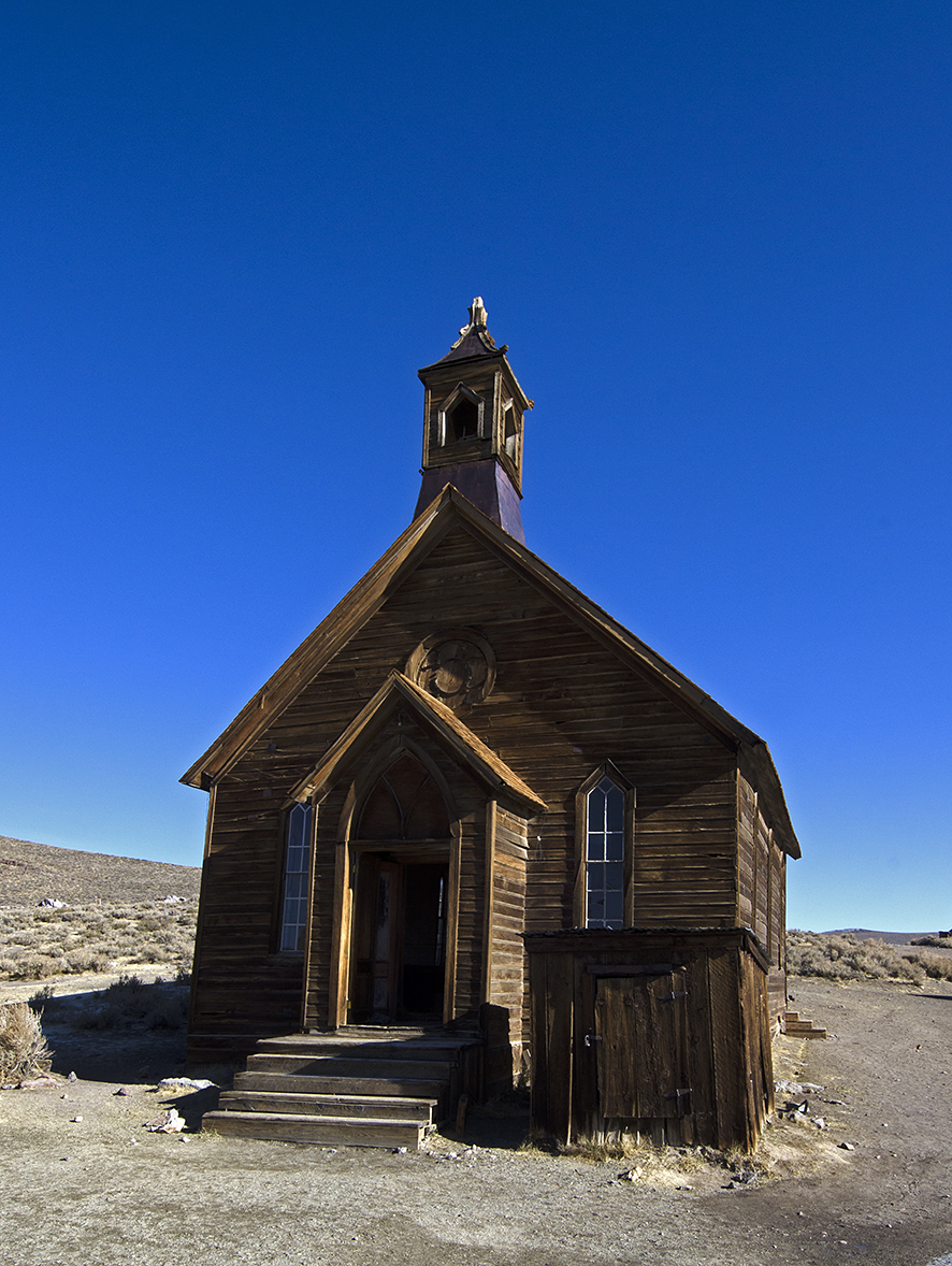The old Methodist Church was erected in 1882. It's the only Church still standing in Bodie.