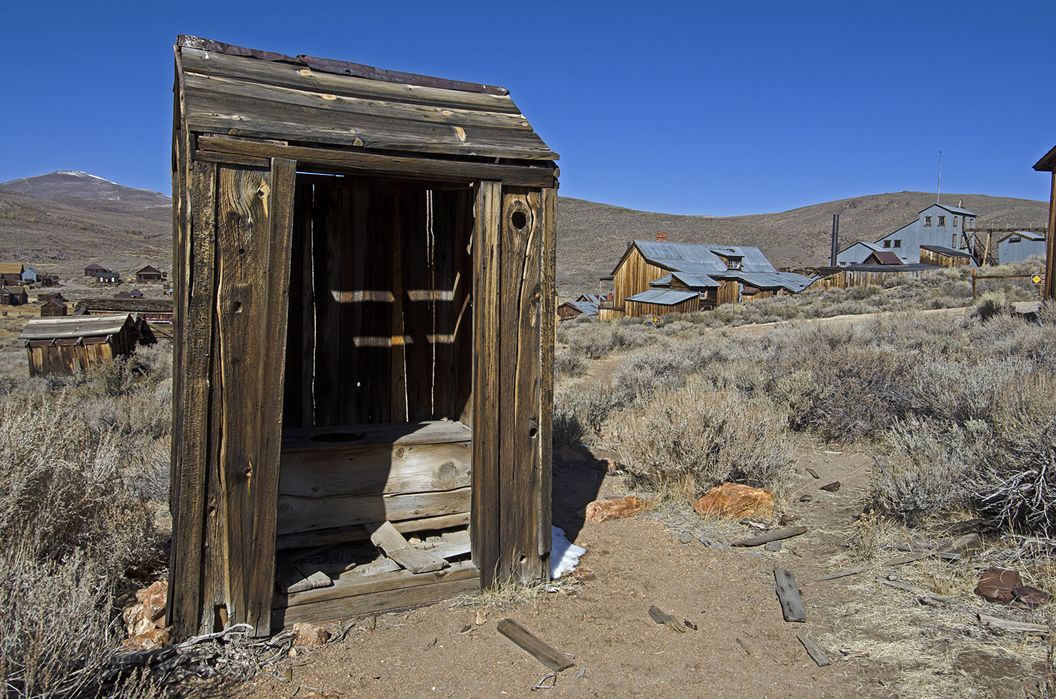 Lots of old outhouses are scattered about the town.