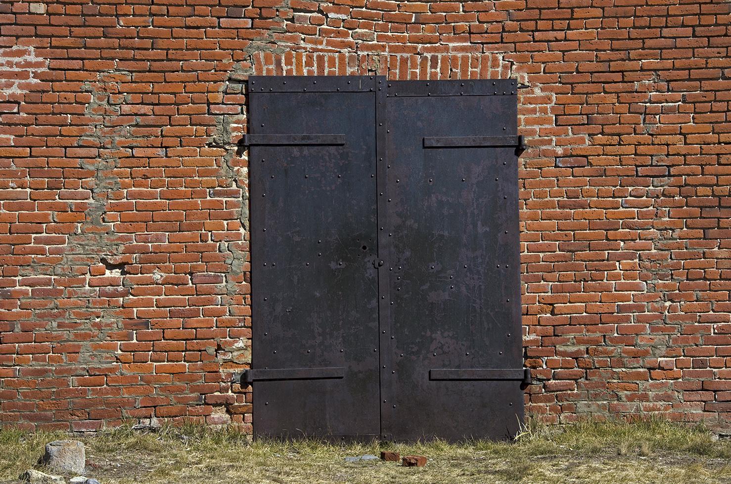 Some impressive iron doors.