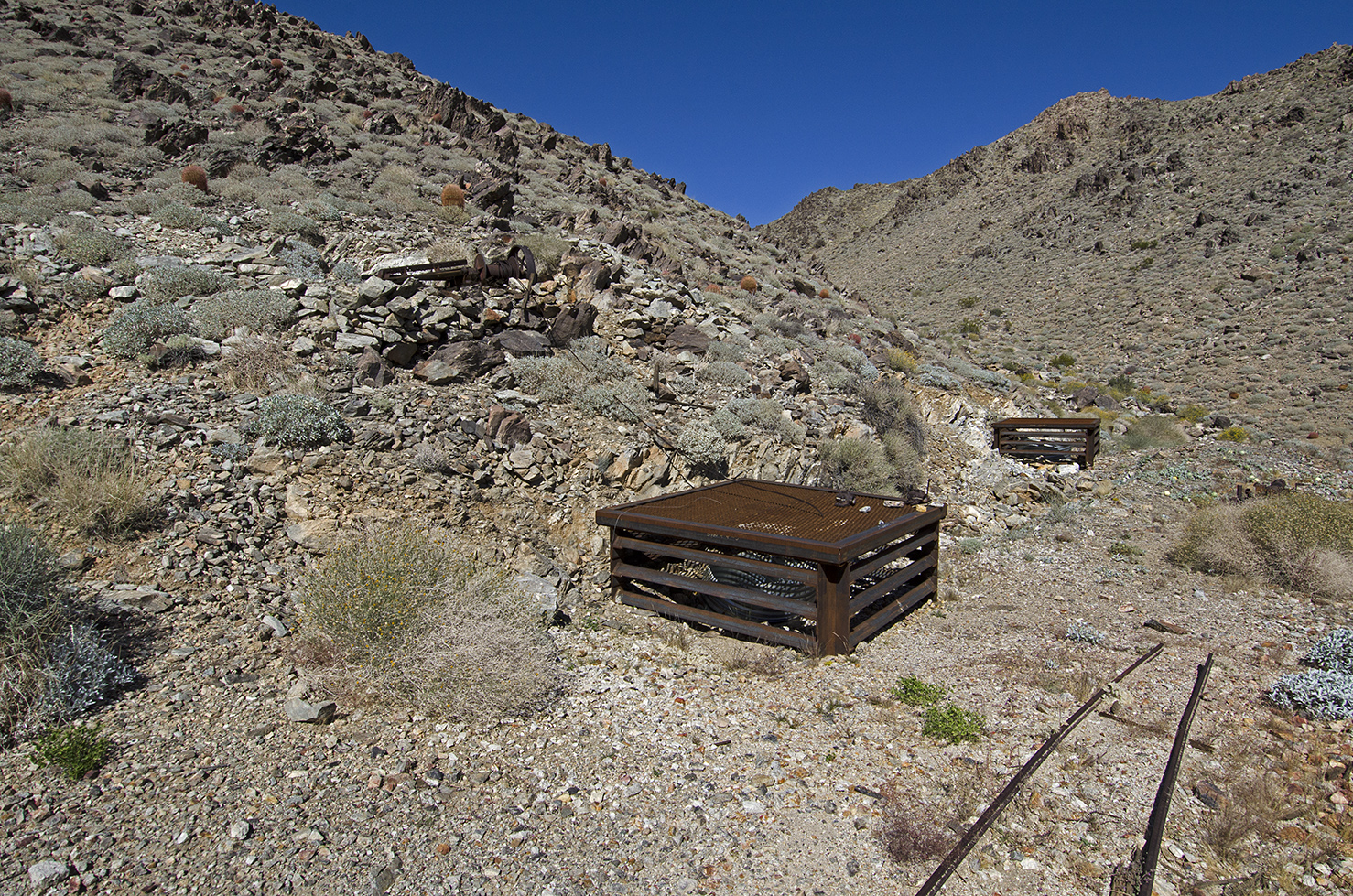 Covered mine shafts.