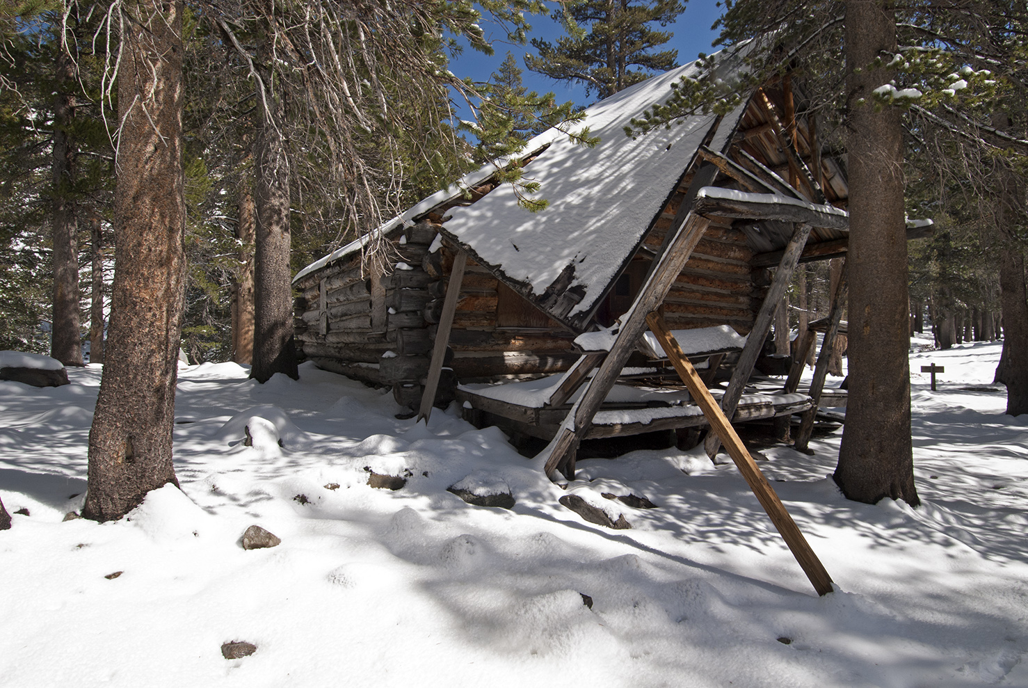 Mahan Cabin, circa 1929, home to the principal partners.