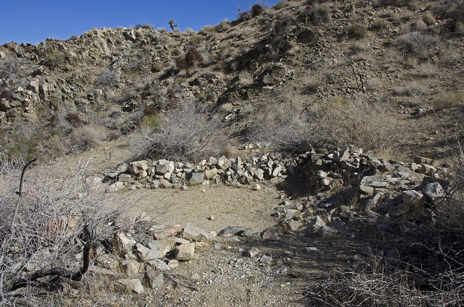 A large stone ruin