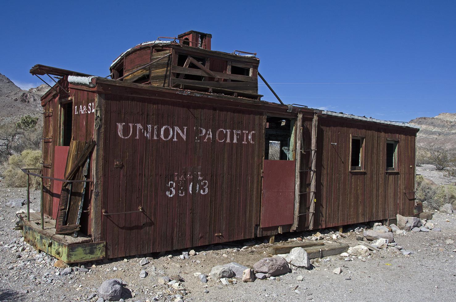 An old caboose near the train depot.
