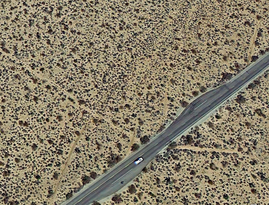 Find the old mining road here:34.012913° -116.034389°