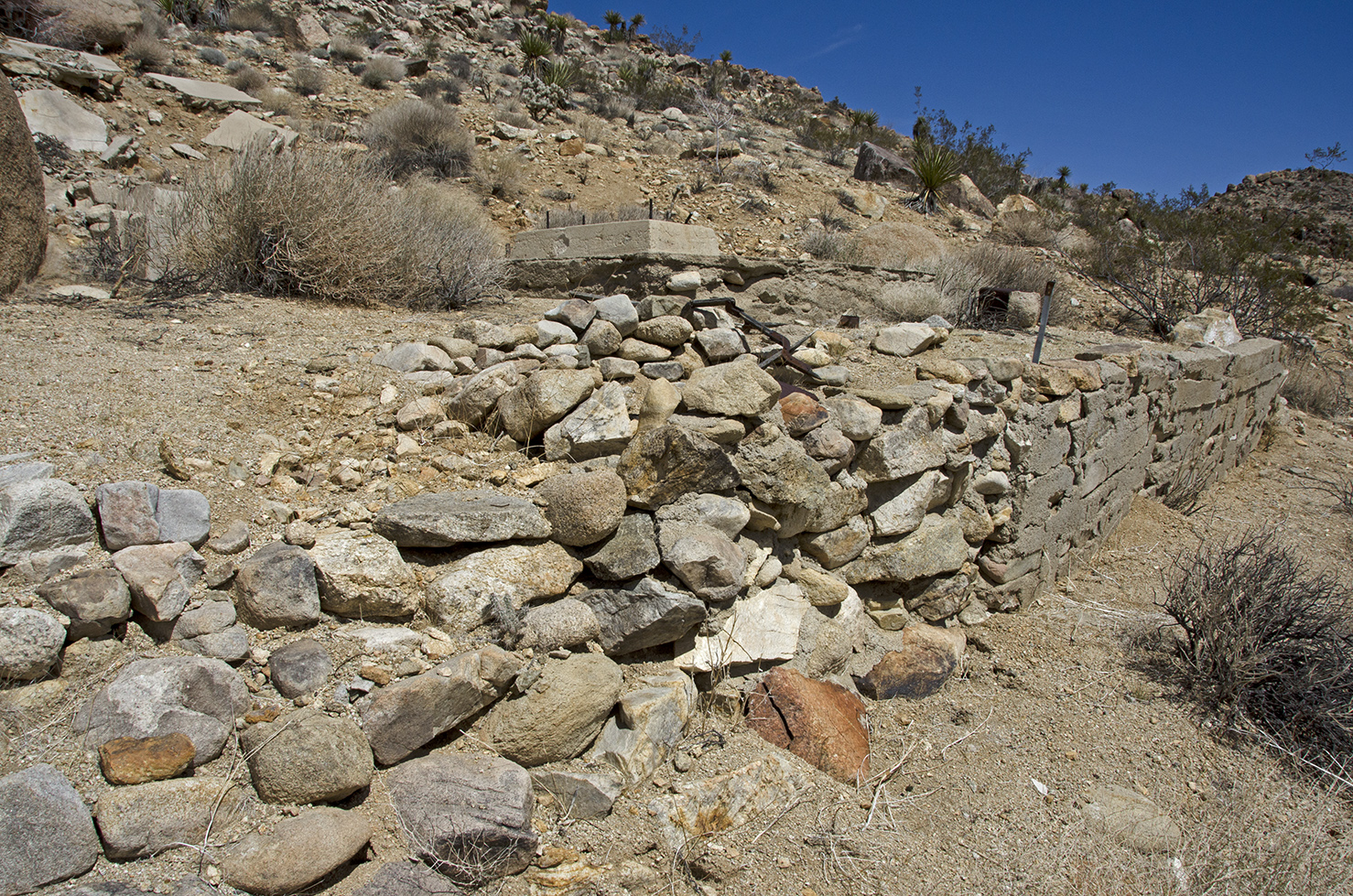 The front retaining wall.