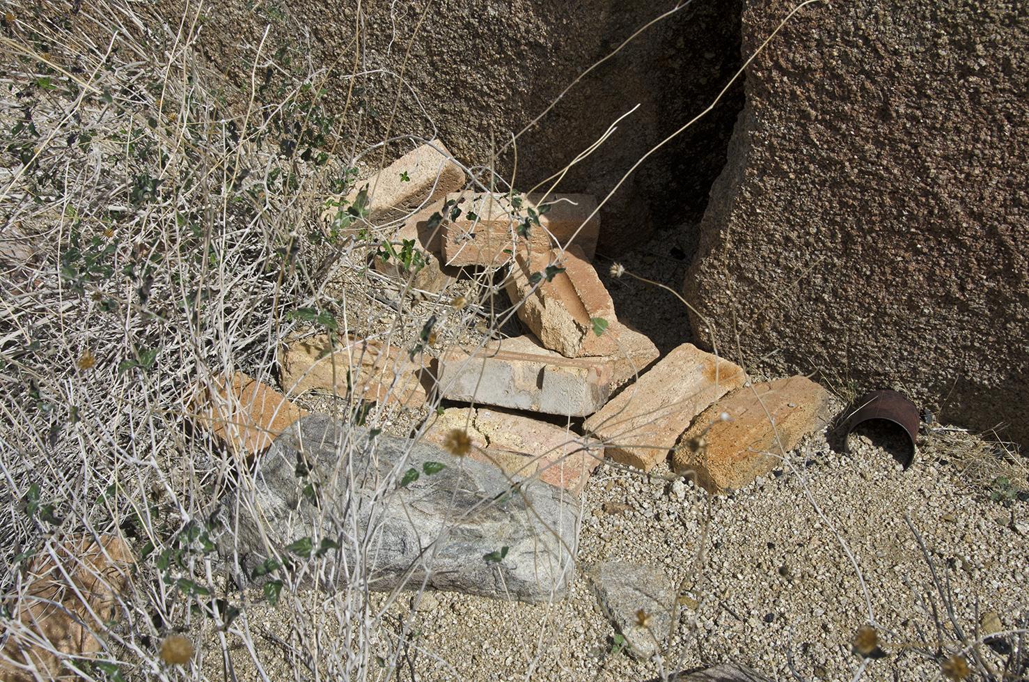 The brick pile.