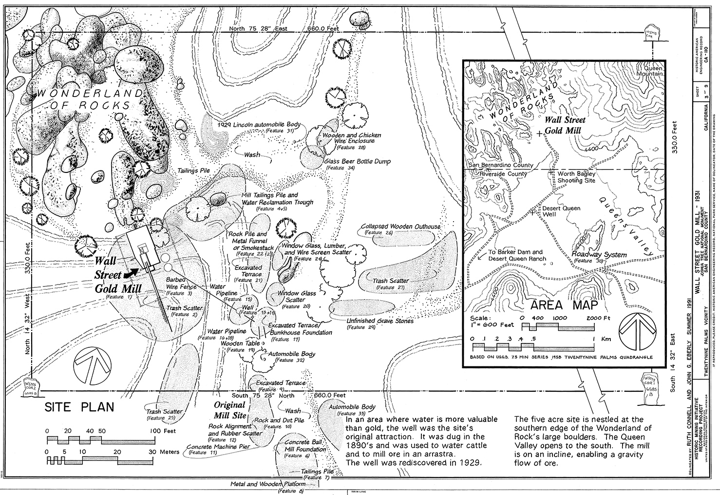 Credit: Historic American Engineering Record, National Park Service, Ruth Connell and John G. Eberly, 1991.