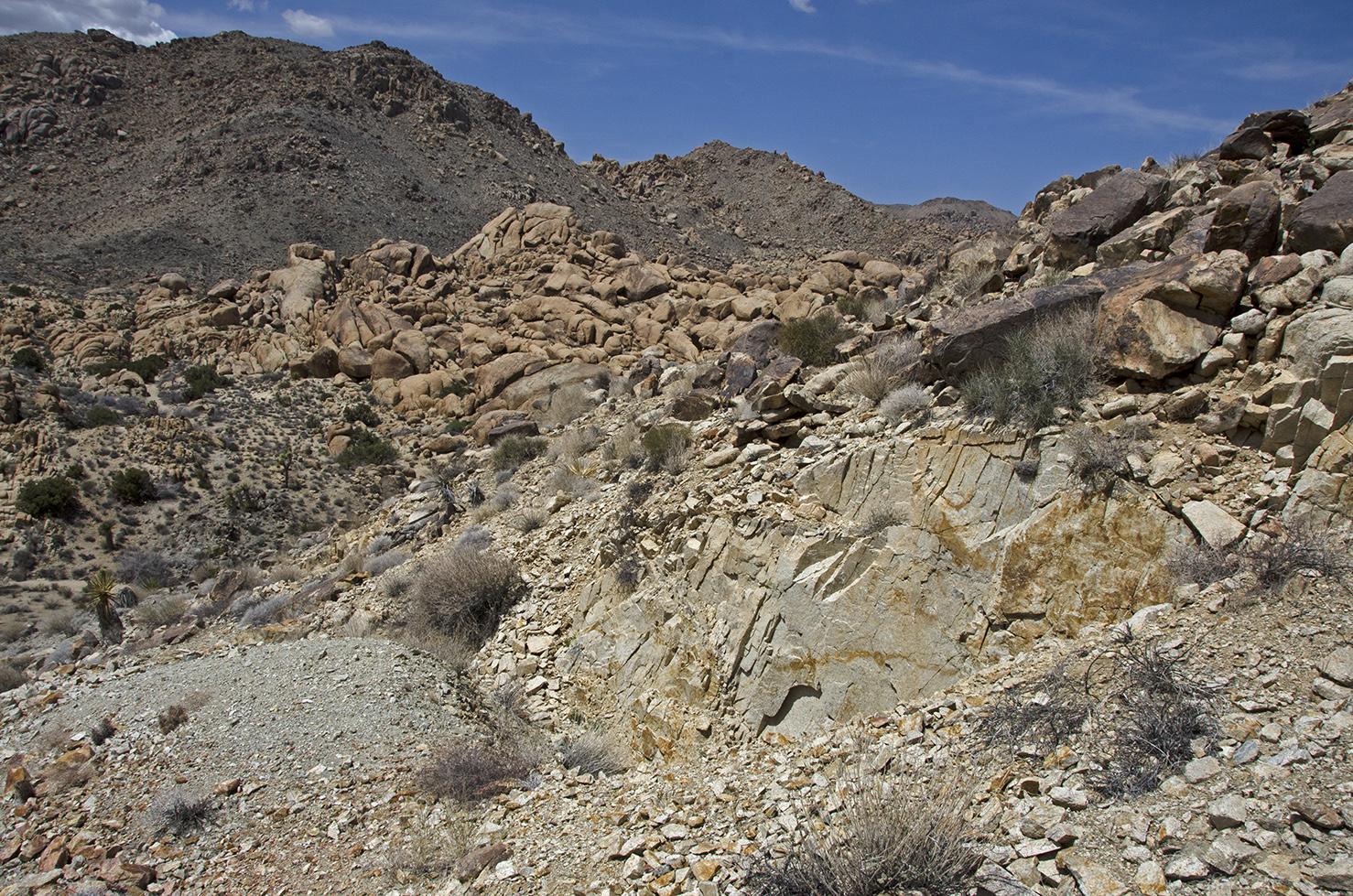 Getting a little closer, still above the mine.