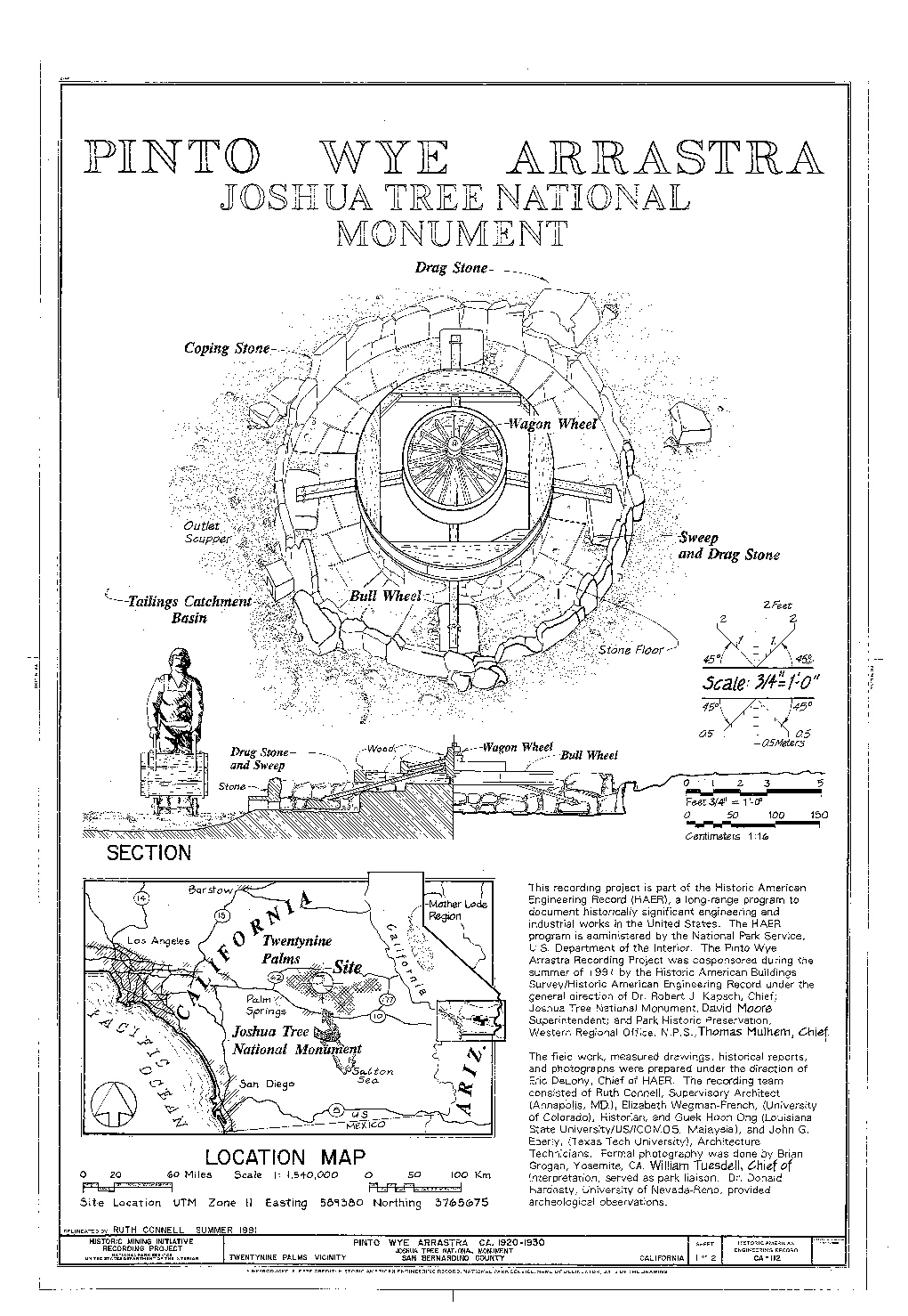 Credit: Historic American Engineering Record, National Park Service, delineated by Ruth Connell, summer 1991.