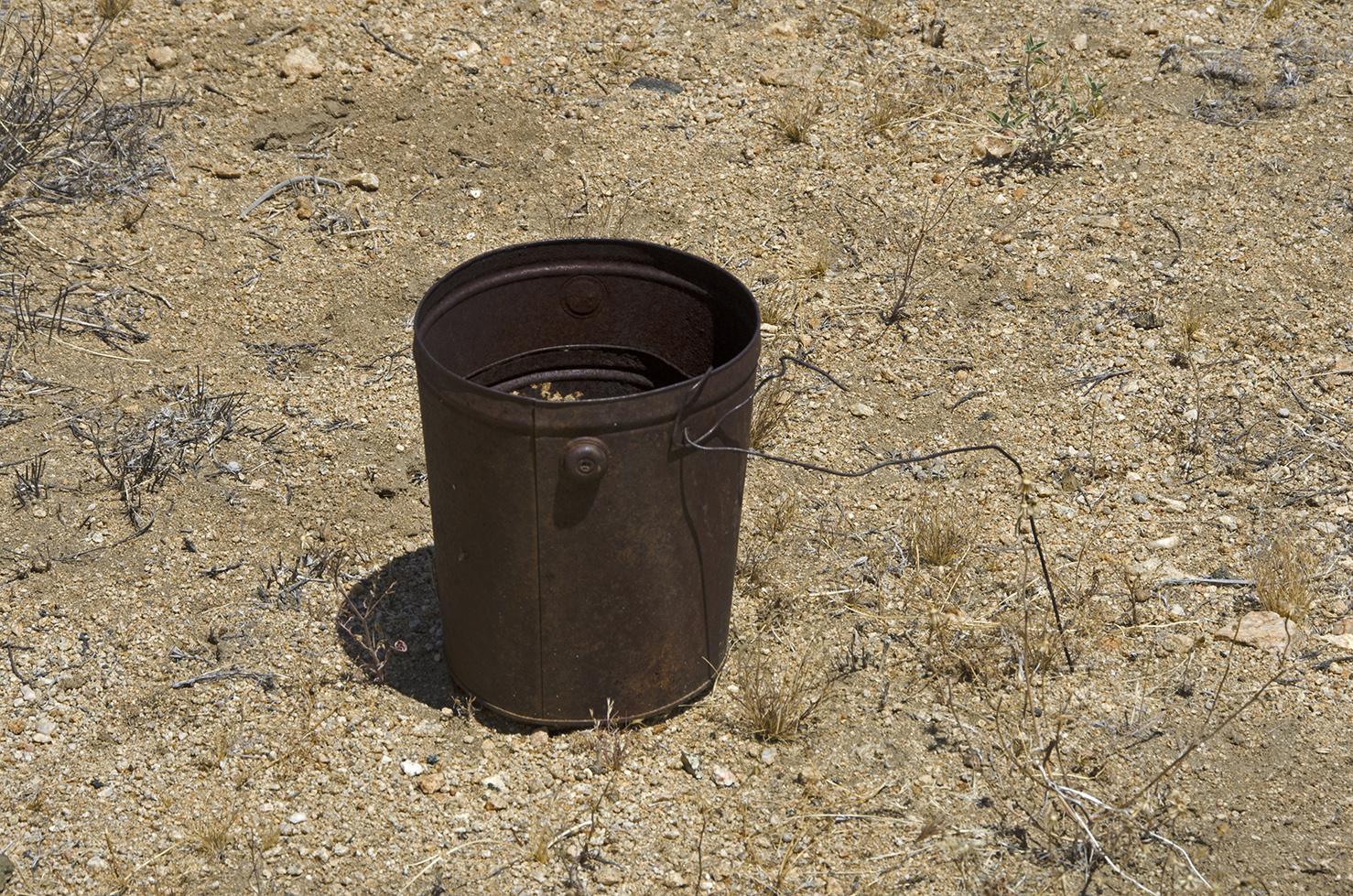 I saw a bucket, I didn't kick it.