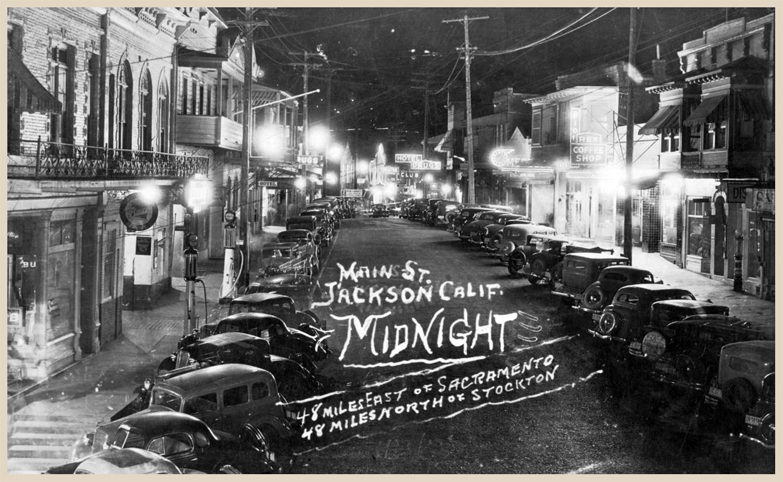 Real photo post card, Main Street, Jackson, circa 1940s