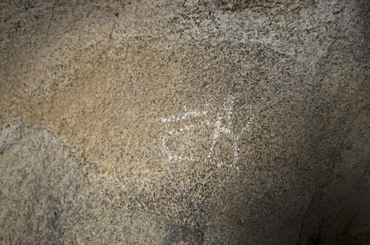 The lone petroglyph