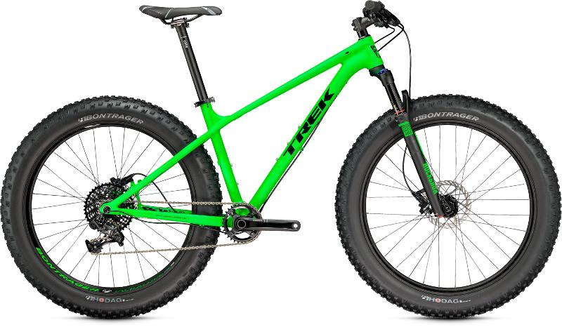 trek farley fat tire bike green